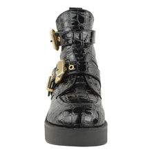 CHUNKY ANKLE BOOTS CROC front