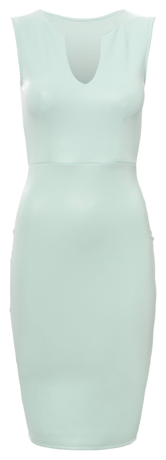 Mint PVC Matt Sleeveless Dress