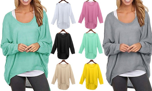 Basic Lightweight Oversized Knit Top