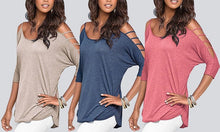 Cut-Out Sleeve Jersey Top