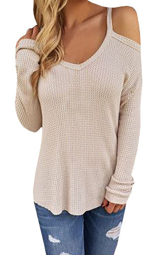 Lily Women's Long-Sleeved Cold-Shoulder Sweater