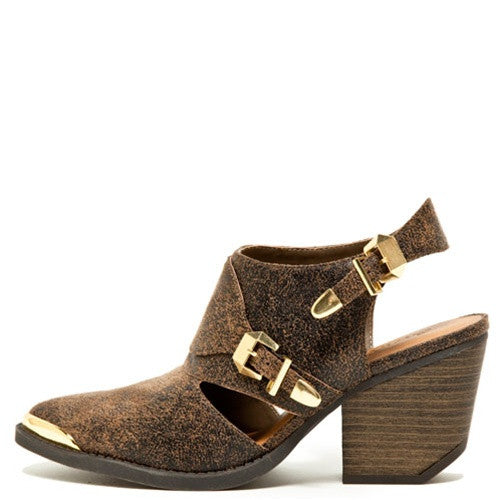 Cowgirl Cut Out Ankle Boots