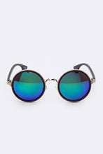 Reflective Statement Round Shape Sunglasses