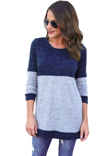 Skylar Colour Block Long Sleeved Top