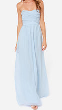 Light Blue Strapless Maxi Dress