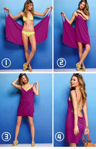 Multi-Style Wrap Beach Dress 5 Colours