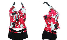 Floral and Spot Print Halterneck Tankini