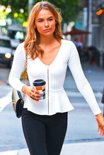 Peplum Quilted Jackets