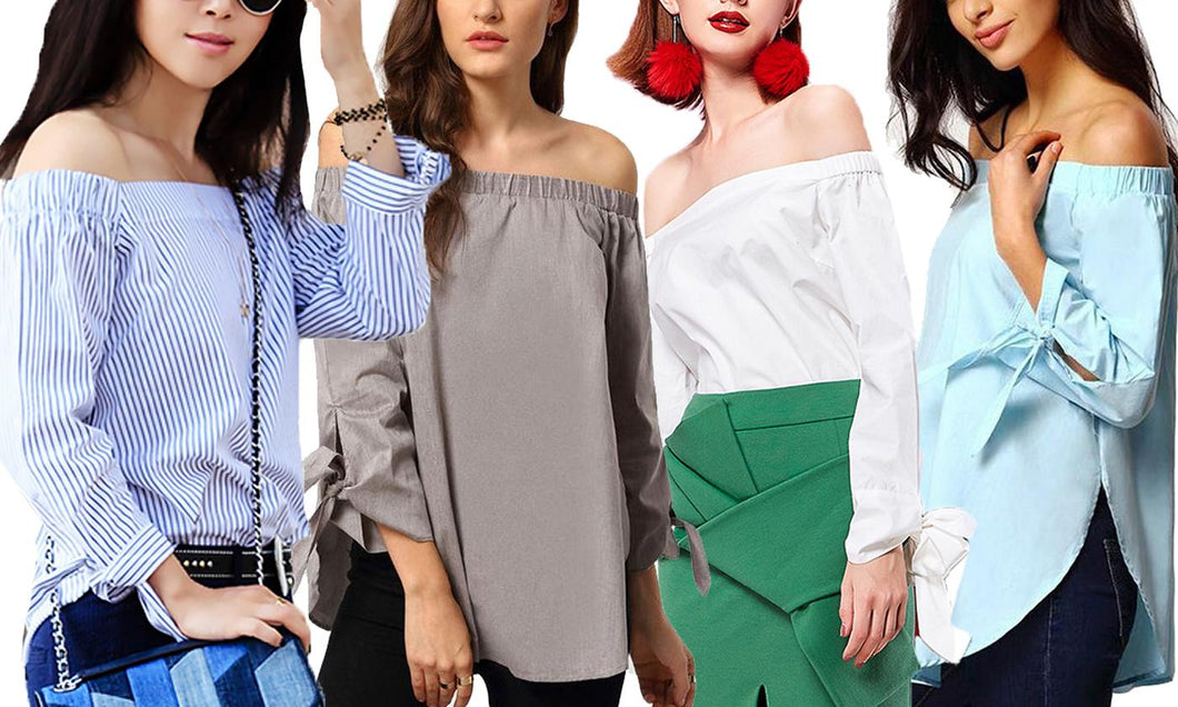 Tie Off-Shoulder Top
