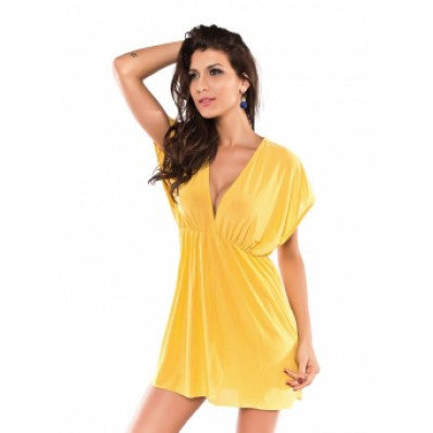 Beach Kaftan Dress Yellow