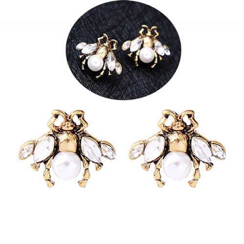 Bee-Stud-Crystal-Earrings