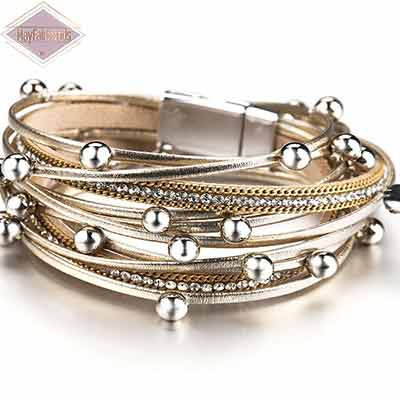Boho-Chic-Stacking-Leather-Bracelet-color-gold