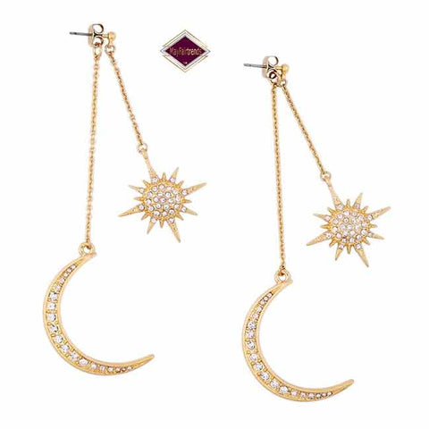 Art Deco Graff Moon Stars Earrings