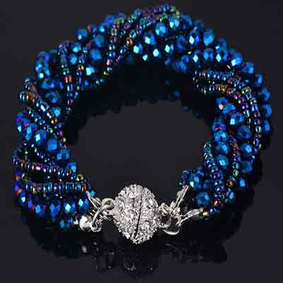 Multi-Strand-Crystal-Beads-Handmade-Bracelet-color-cyan-blue-mayfairtrends
