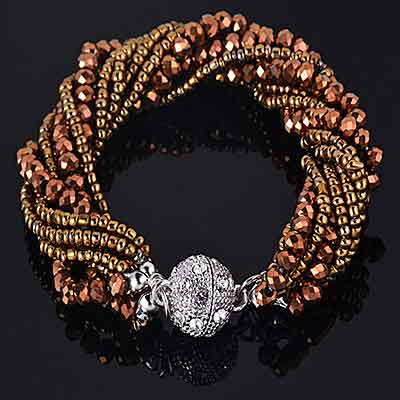 Multi-Strand-Crystal-Beads-Handmade-Bracelet-color-dark-brown-mayfairtrends