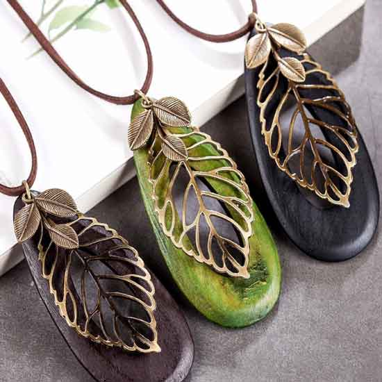 Boho-Chic-filigree-Pendant-Necklace-color-variants-brown-green-black-mayfairtrends