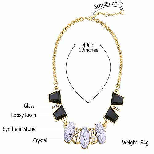 Size-chart-Art-Deco-Crystal-Cluster-Bib-Necklace-mayfairtrends