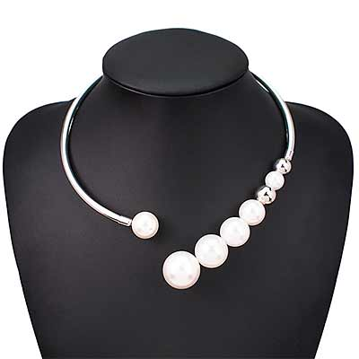 colour-silver-Pearl-Open-Collar-Torc-Necklace-mayfairtrends