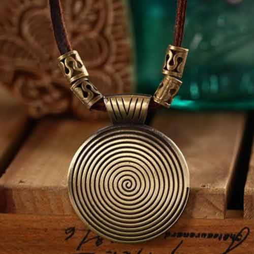 wood-background-Mayfair-Boho-Spiral-Necklace
