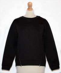 Black Zip Jumper