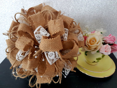 RUSTIC Bouquet Hessian and Lace