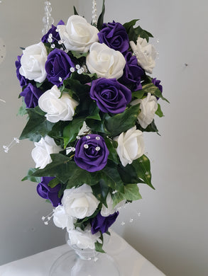 Helen Brides purple Medium Teardrop Bouquet