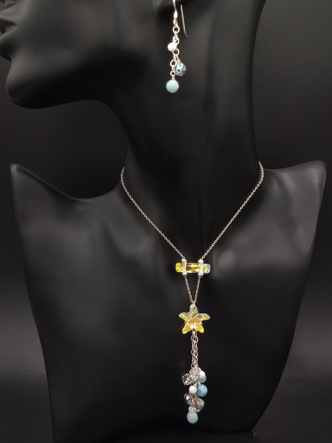 Starfish Up Style Necklace & Earrings Set