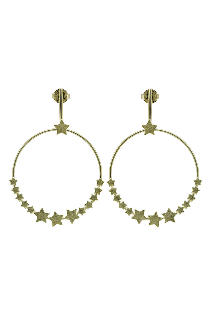 Carrie Star Hoop Earrings - The Blue Fairy