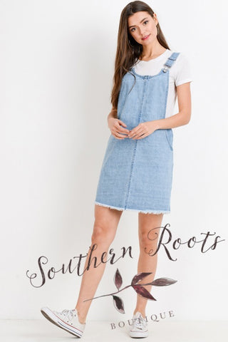 RELAXED FIT OVERALL MINI SKIRT
