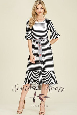 A Lifetime Of Love Striped Dress