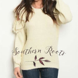 Ivory Cold Shoulder Sweater Sweater