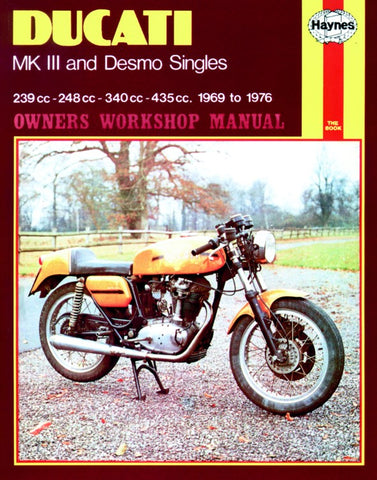 Haynes Manual for Ducati MK111 and Desmo Singles (1969 - 1976)