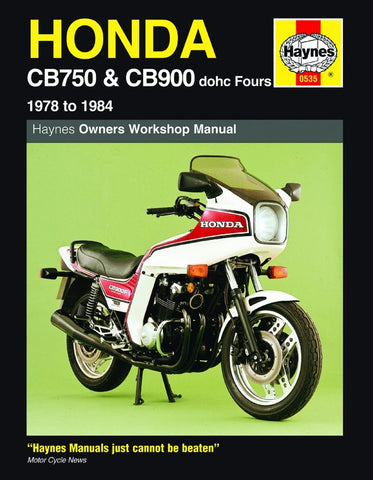 Haynes Manual for Honda CB750 & CB900 (1978 to 1984) dohc Fours