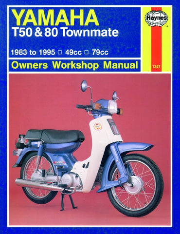 Haynes Manual Yamaha T50,T80 Townmate 83-95