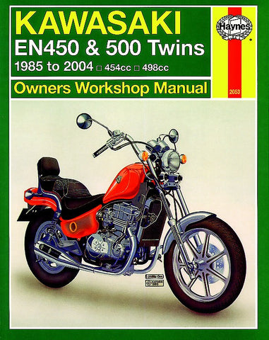 Haynes Repair Manual Kawasaki EN450, EN500 (85-07)