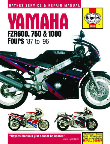 Haynes Manual Yamaha FZR600, FZR750, FZR1000 Fours (87-96)