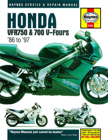 Haynes Manual Honda VFR750 F & VRF700 V Fours (86-97)