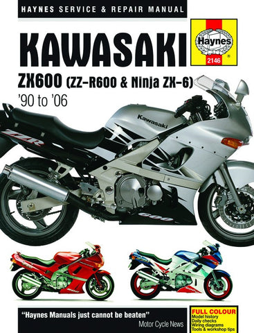 Haynes Repair Manual Kawasaki ZZR600 (90-06)