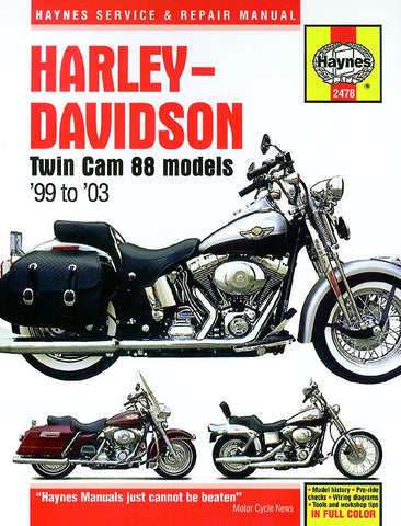 Haynes Manual Harley Davidson Twin Cam 88 (99-03)
