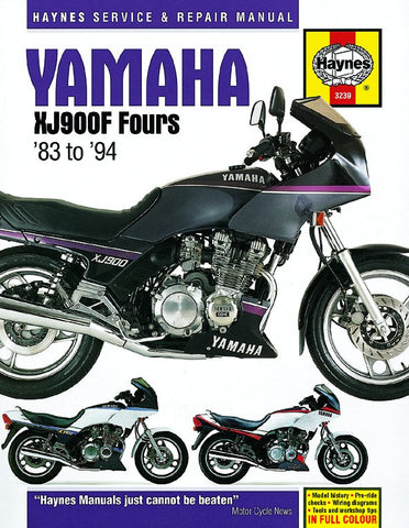 Haynes Manual Yamaha XJ900F Fours (83-94)