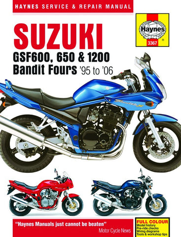 Haynes Repair Manual Suzuki GSF600, GSF650, GSF1200 Bandit Fours (95-06)
