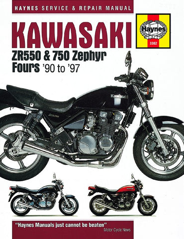 Haynes Repair Manual Kawasaki ZR550 Zephyr & ZR750 Zephyr Fours (90-97)