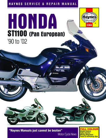 Haynes Repair Manual Honda ST1100 Pan European V-Fours (90-02)