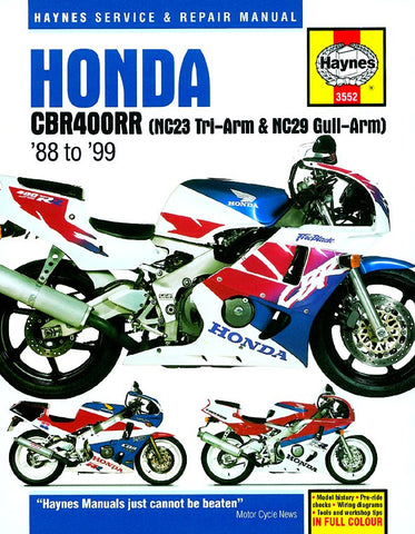 Haynes Repair Manual Honda CBR400RR Fours (88-99)