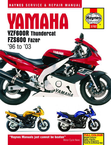Haynes Repair Manual YZF600R Thundercat & FZS600 Fazer (96-03)