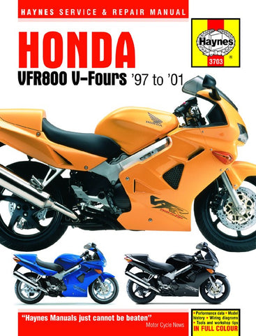 Haynes Repair Manual Honda VFR800 V-Fours (97-01)