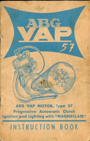 Auto Vap ABG VAP 57 Engine Instruction Book DOWNLOAD COPY