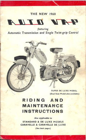 AutoVap Riding and Maintenance Instructions DOWNLOAD COPY