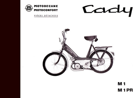Mobylette Motobecane Moped Cady M1-M1PR Spare Parts Manual in French on CD