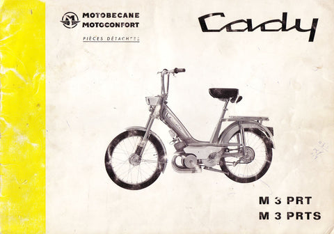 Mobylette Motobecane Moped Cady M3PRT - PRTS Spare Parts Manual in French DOWNLOAD